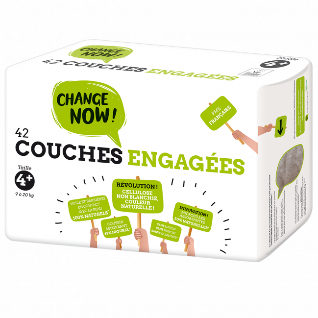 Couches engagées - Taille 4 +